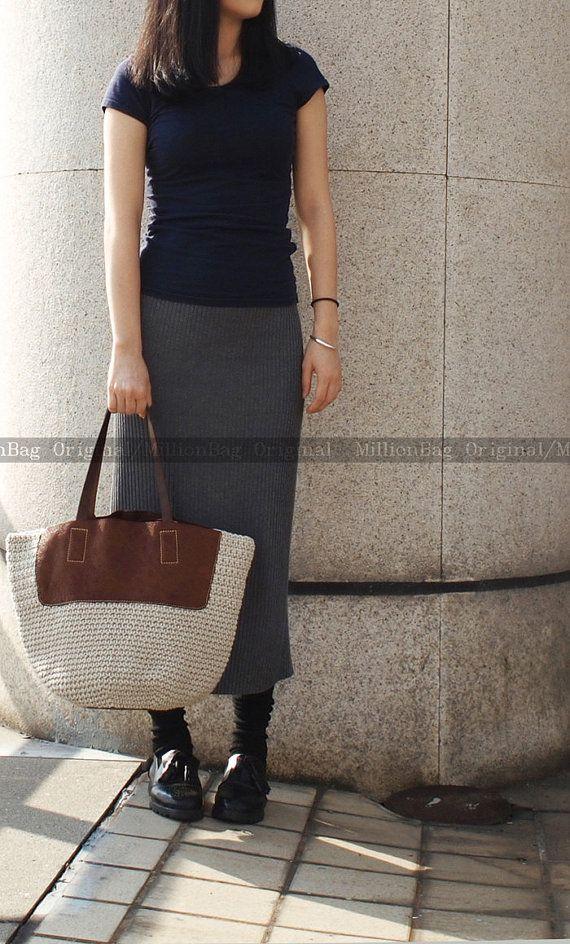 Genuine Leather Shoulder Bag / Leather Handbag / by MillionKnit, $116.00