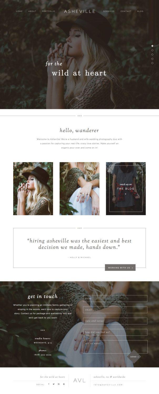Showit 5 website design || Website template, Wordpress blog template, branding inspiration, modern photography website
