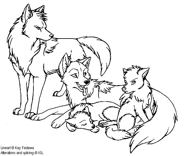 friendly wolf coloring pages - photo#26