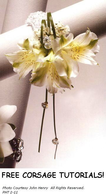Wedding Corsage Ideas - This website has 1000's of photos, DIY florist supplies and free flower tutorials
