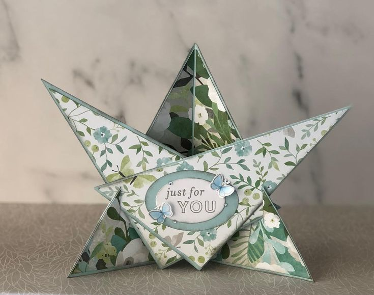 Star effect card with the Chelsea Gardens paper. #CTMH #ctmhchelseagardens