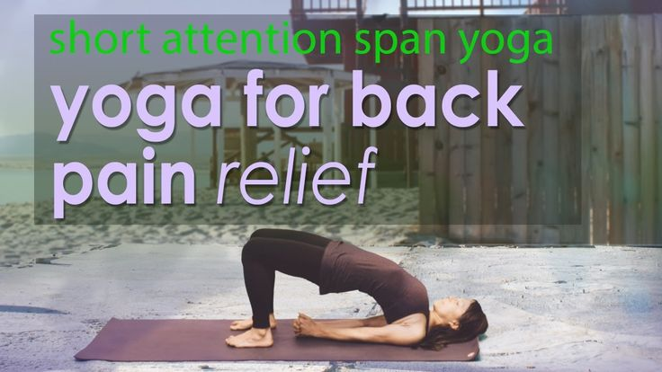5 Minute Back Pain Relief ~ Short Attention Span Yoga - YouTube