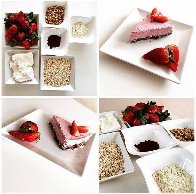 Jahodový dortík - Fitness Recepty