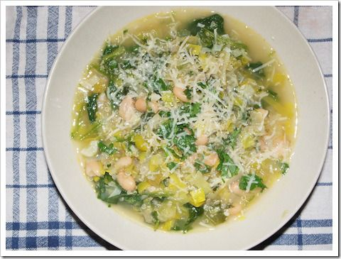 Spinach and leek white bean soup | A Plant Strong Life | Pinterest