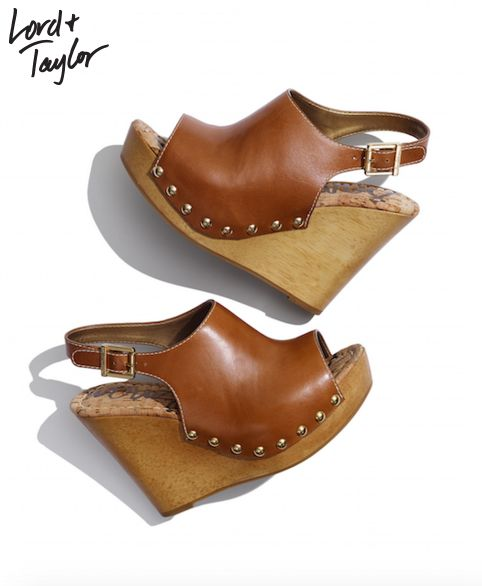 SAM EDELMAN Camilla Leather Sandals. Chic wedge platforms in smooth leather with edgy stud details. Always free shipping on orders $99 or more + 25% off during Friends & Family (4/6-4/17)
