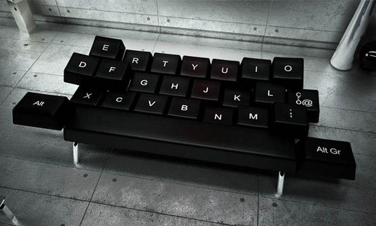 Divano-letto qwerty, per quelli che sulla tastiera ci si addormentano comunque. http://www.zo-loft.com/