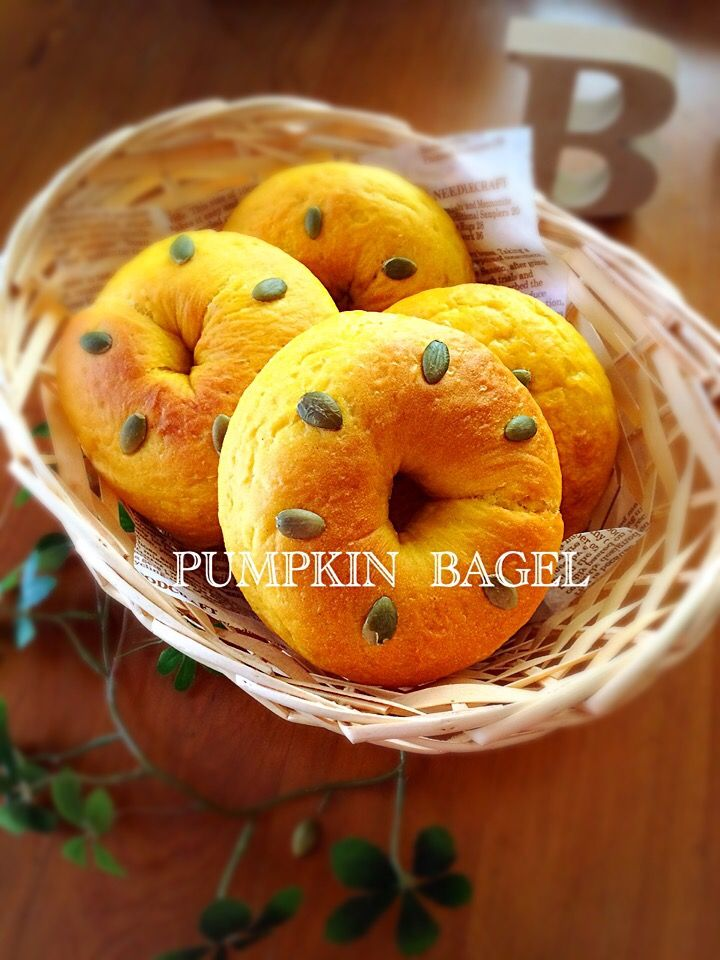 ばろん's dish photo 真夜中のパン焼き          久しぶりにベーグル作ってみました | http://snapdish.co #SnapDish #ハロウィン #ベーグル