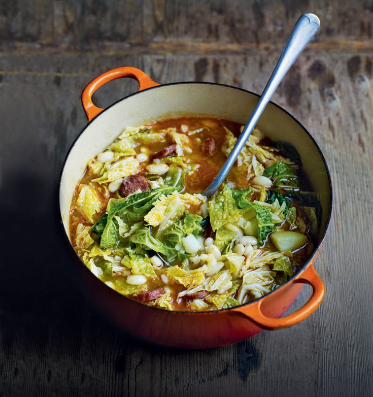 Debbie Major's cabbage soup is based on the traditional Portugese recipe which translates literally as 'green soup'.