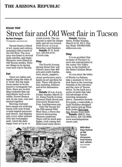 Red Door Spa Was Mentioned In An Article Titled, U201cStreet Fair And Old West  Flair In Tucson.u201d Red Door Spa Was Noted As One Of The Amazing Amenities  Offered ...