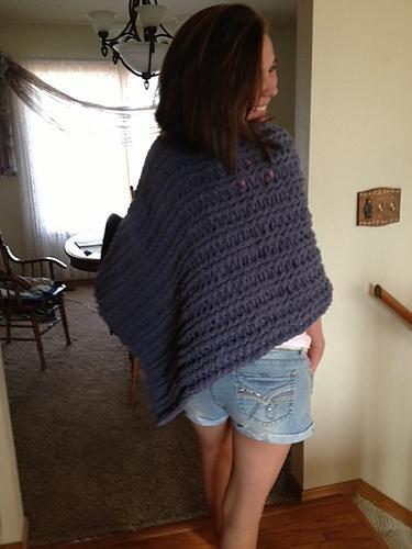 Loom Knit Poncho pattern