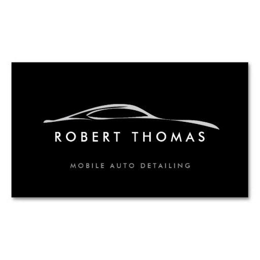 BLACK AUTO DETAILING, AUTO REPAIR BUSINESS CARD