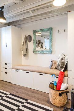 IKEA Stuva Kids Studio and Mudroom - contemporary - entry - boston - Justine Sterling Design