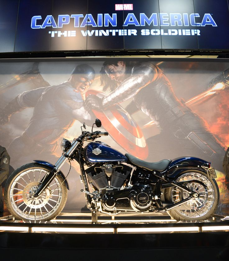 San Diego Comic-Con Reveals Harley-Davidson in upcoming Marvel Film, 'Captain America: The Winter Soldier'.