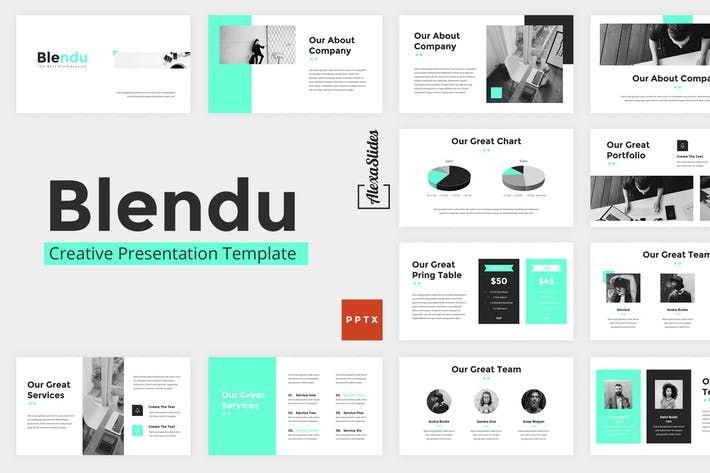 Blendu Powerpoint Presentation Template By Alexacrib On