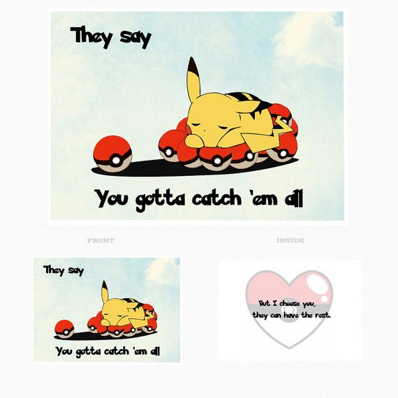 I Choose You Pokemon Card 4 x 5 Card With Envelope by QueenJeans