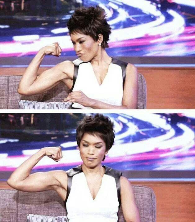 Working those arms - Angela Bassett http://blackdoctor.org/235511/angela-bassett-fitness-routine/
