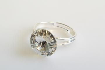 ring Rivoli 12 mm crystal  made with Swarovski®  Elements  Click to view the picture detail.