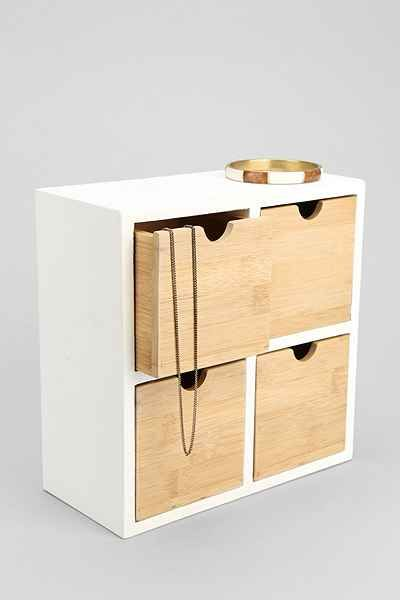 Bamboo Tabletop Organizer - Urban Outfitters $39