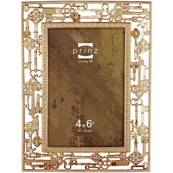 prinz 4 x 6 keyes picture frame 11 liked on polyvore - Metal Photo Frames