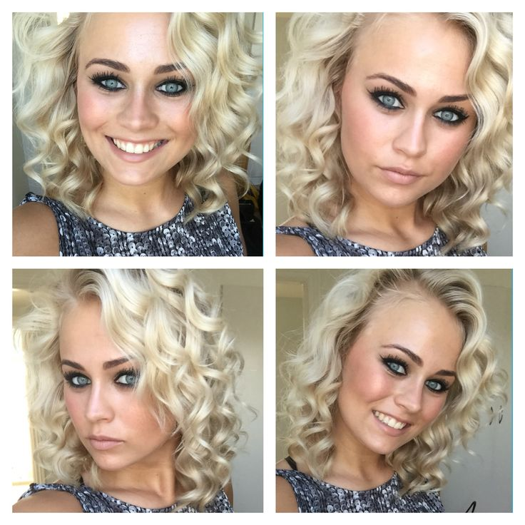 Makeup and curls