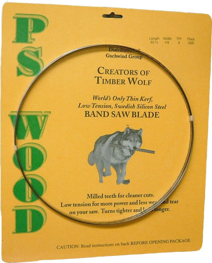 """PS Wood Machines - 1/2"""" x 0.032 AS Series Timber Wolf® band saw blade, $23.75 (http://www.pswood.com/1-2-x-0-032-as-series-timber-wolf-band-saw-blade/)"""