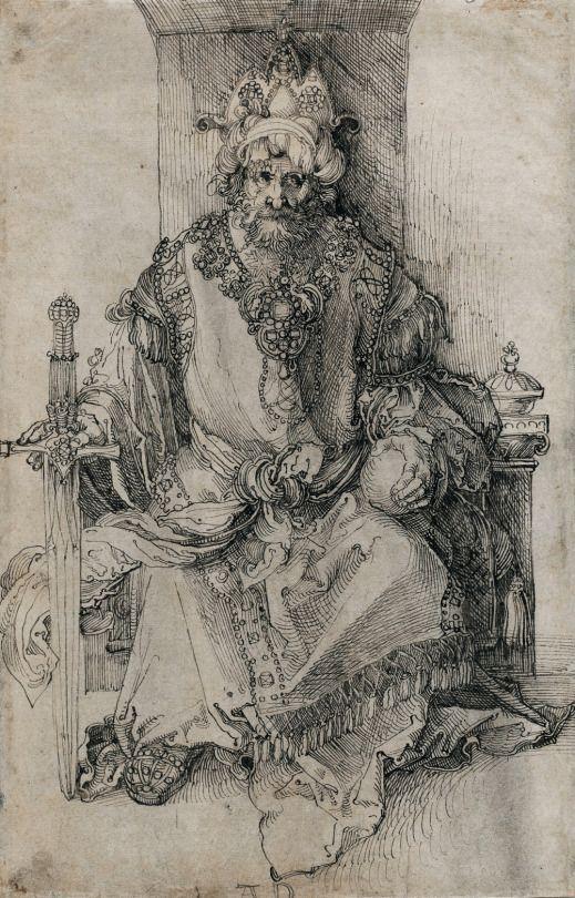 ALBRECHT DÜRER  An Oriental Ruler Seated on His Throne, 1495