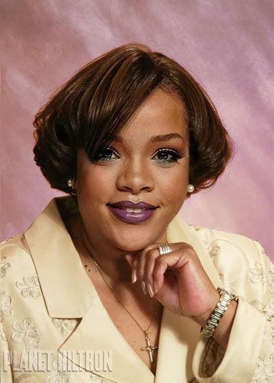 Rihanna - New York based artist Danny Evans has come up with Planet Hiltron – a hilarious photo series of what Hollywood celebs would look like if they were normal folk.