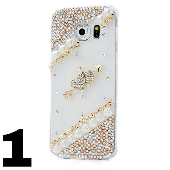 For Samsung S6 Rhinestone Phone Cases Luxury Diamond Bling Crystal Hard Plastic Protective Cover Case
