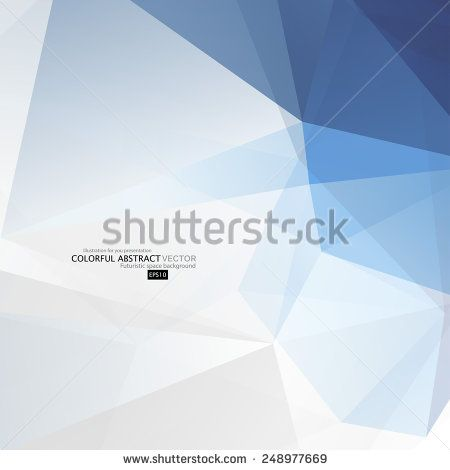 Abstract geometric background with polygons. Molecule and communication background. Vector illustration. - stock vector
