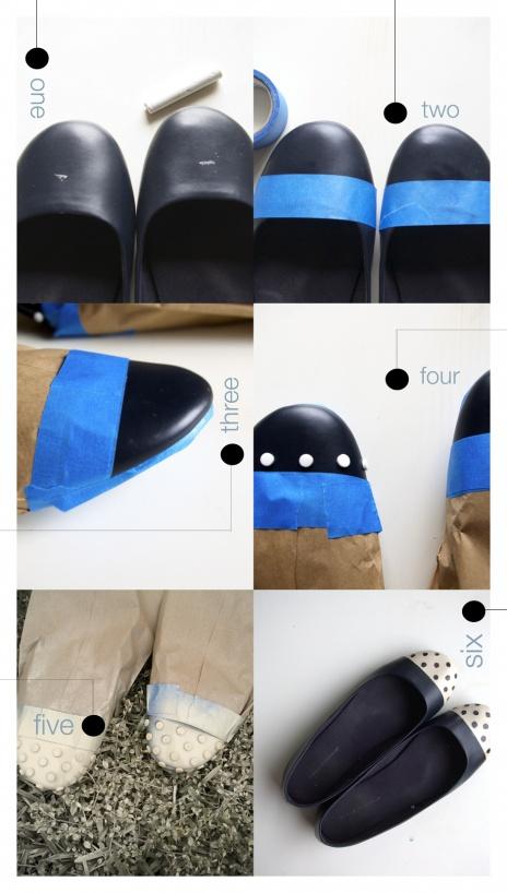 Polka Dotted Flats: Diy Shoes, Diy Polka, Polka Dots, Fashion, Dots Flats, Diy'S, Black Flats, Diy Dips, Shoes Art