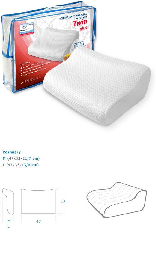 MAX PLUS - Poduszka ortopedyczna wykonana z najwyższej jakości pianki z pamięcią. Jest termoplastyczna, pod wpływem ciepłoty ciała dopasowuje się do jego kształtu i idealnie podpiera naturalne krzywizny kręgosłupa.