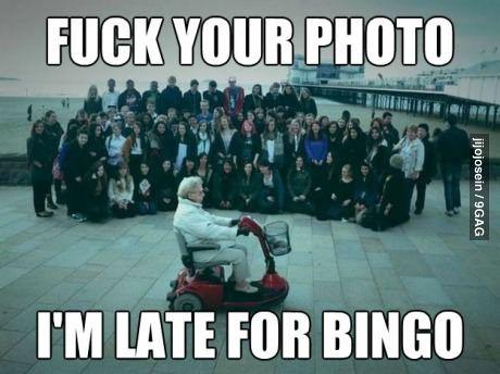Granny photobomb