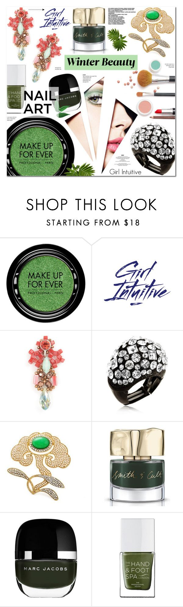 """""""Girl Intuitive 17"""" by anyasdesigns ❤ liked on Polyvore featuring MAKE UP FOR EVER, Smith & Cult, Marc Jacobs and StyleNanda"""