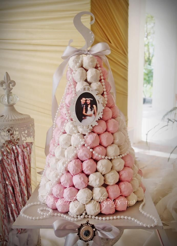 ferrero rocher croquembouche. omgsh!!!!!! THIS IS PRETTY!!!!!!!!! of course different colors but i love this idea