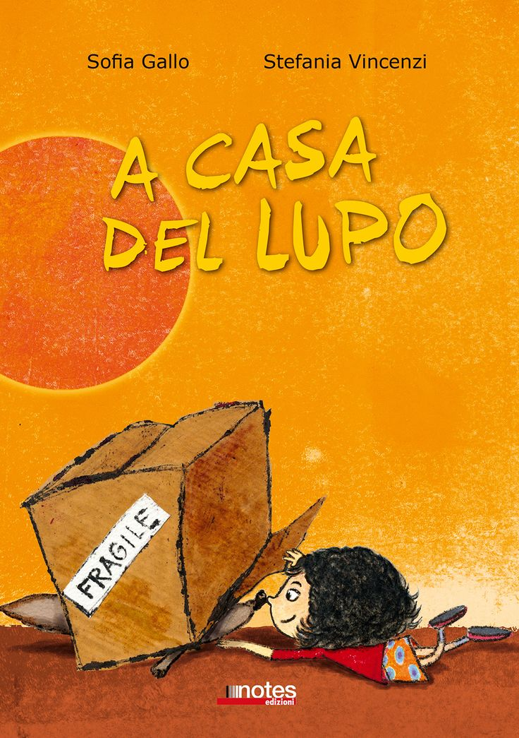 """Un lupo timido, una bambina intraprendente. cosa nasconderà il lupo nella sua  scatola-tana? """"A casa del lupo"""" di #SofiaGallo con le illustrazioni di #StefaniaVincenzi/3-6anni."""