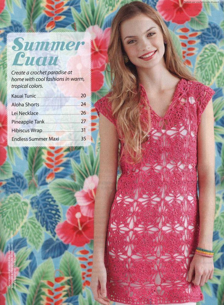 Crochet dress ♥LCD-MRS♥ with diagram. From the Crochet Today magazine in English. my favorite magazine in nowdays --- Crochetemoda: Vestido de Crochet Rosa