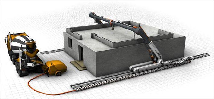 Калифорнийские ученые разработали технологию, позволяющую печатать на гигантском 3D-принтере дома из бетона | ByMy.org