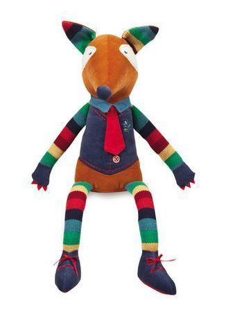 Fletch the Fox is a multicoloured soft toy awaiting a new home to live in.
