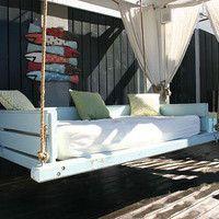 Vintage Blue Swing Bed