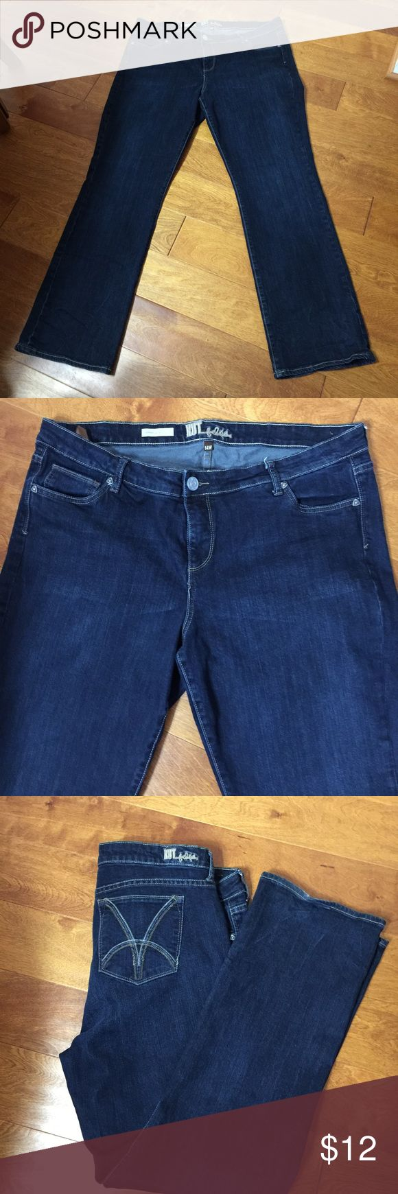 Size 14W KUT jeans Purchased at Bloomingdales Kut from the Kloth Jeans Boot Cut