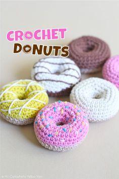How to Crochet Donuts [Free Pattern] | Hello Yellow Yarn