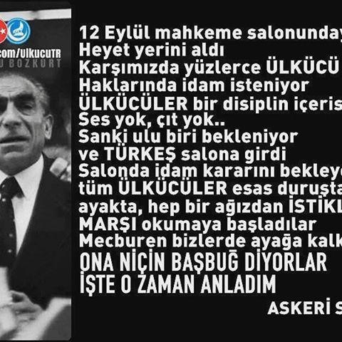Cennetmekan Rahmetli Basbugumuz Alparslan Türkeş' i özlem ve minnetle anıyoruz…