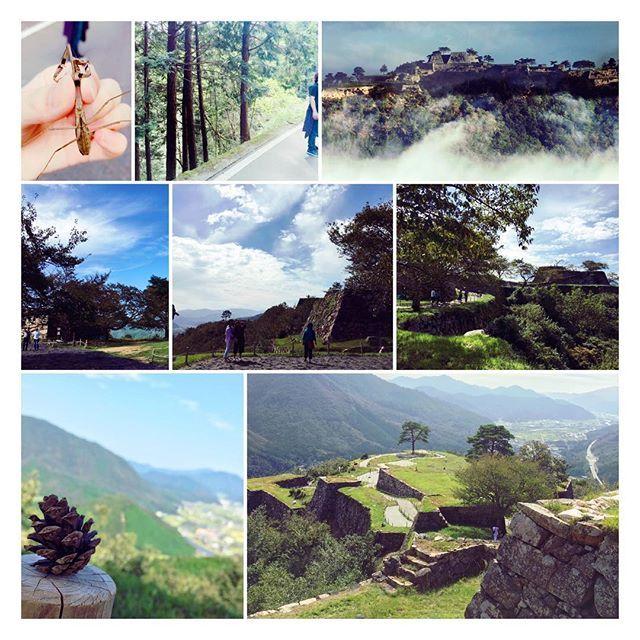 【rie_k0113】さんのInstagramをピンしています。 《in竹田城跡 . 早朝に登れば、まさにラピュタとか 日本のマチュピチュとか🇵🇪 . ただ、登るのが辛い。🚶🏻💦 石蹴りしても虫とりしてもずっと坂。 . 壮大な景色は気持ち良かったけどね🙏 . #ラピュタは諦めて昼間登る#途中までタクシーで行けることに中盤で気付く#嘘やろってなる#カマキリ#トカゲ#時折元気をくれる虫達#後ろ向きで登ると楽ってゆう、ちびまる子の知識を借りる#竹田城跡#日本のマチュピチュ#自然#森#空#雲#景色》