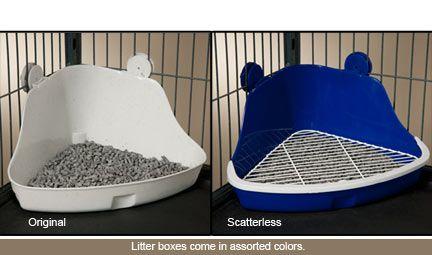 Litter box - Scatterless Lock-N-Litter Pan -installed in cage
