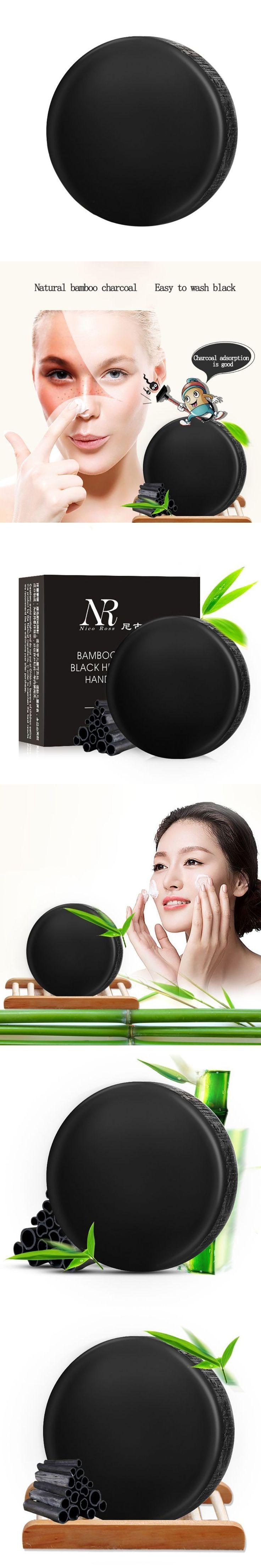 Bamboo Charcoal Soap Treatment skin care natural Skin whitening soap blackhead remover acne treatment