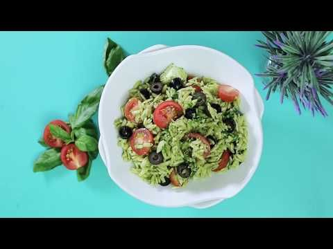 (8) Ensalada Orzo con queso Feta - YouTube