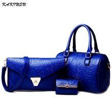 3 Sets Leather Women Shoulder Bag Handbag Lady Messenger Bag Brand Design Tote Top-handle Female Purse sac a main Herald Fashion(China (Mainland))