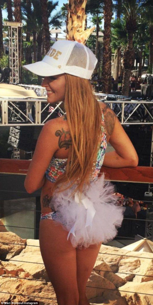 Sunday funday: Maci Bookout, 25, enjoyed a Sunday poolside party at the Hard Rock Casino's REHAB pool resort in Las Vegas, where the Teen Mom OG star celebrated her upcoming wedding to fiance Taylor McKinney over the holiday weekend