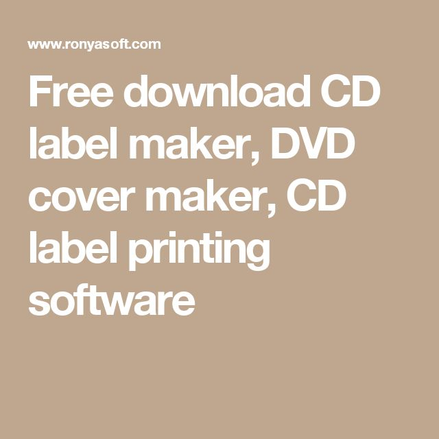 Free download CD label maker, DVD cover maker, CD label printing software