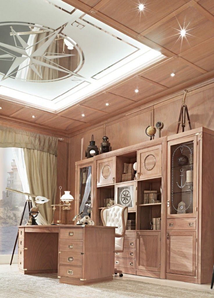 Porta l'eleganza d'altri tempi nel tuo studio, senza perdere la funzionalità. #door #handmade #madeinitaly #vecchiamarina #wood #furniture #italianstyle #navystyle